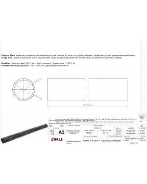 70mm x 81mm = 100 cm DÜZ HORTUM